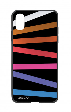 Apple iPhone X White Two-Component Cover - Bands Abstract