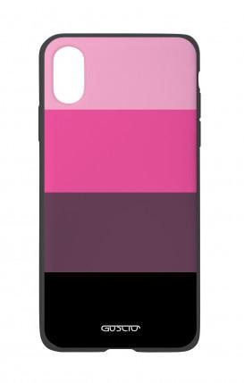 Cover Bicomponente Apple iPhone X/XS - Righe fuxia