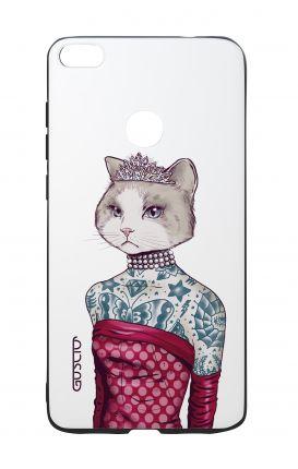 Cover Bicomponente Huawei P8Lite 2017 - Gattina principessa bianco