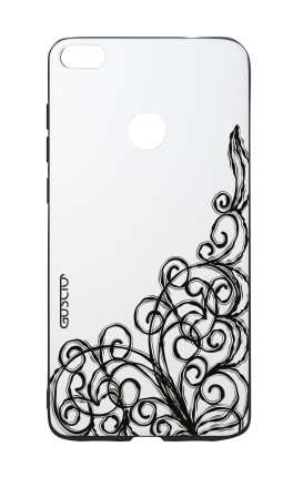 Huawei P8Lite 2017 White Two-Component Cover - WHT Lace Chocolate