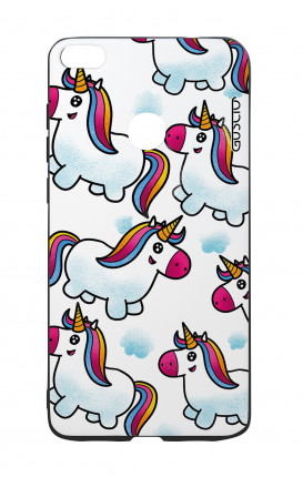 Huawei P8Lite 2017 White Two-Component Cover - WHT Unicorn clouds