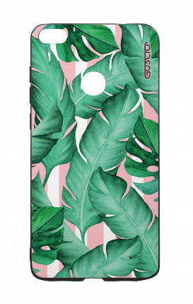 Huawei P8Lite 2017 White Two-Component Cover - Banano Leaves Pattern
