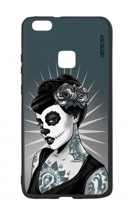 Huawei P10Lite White Two-Component Cover - Calavera Grey Shades