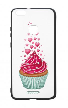 Cover Bicomponente Huawei P10Lite - Dolcetto e cuoricini bianco