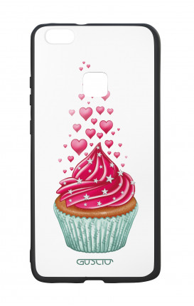 Huawei P10Lite White Two-Component Cover - WHT Cupcake in Love