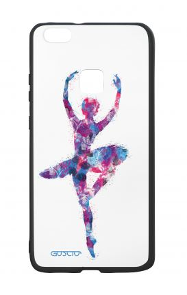 Huawei P10Lite White Two-Component Cover - WHT Ballet in Black