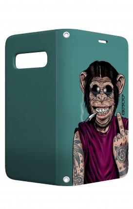 Cover STAND Samsung S10 Plus - Scimmia felice