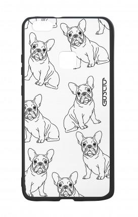Cover Bicomponente Huawei P10Lite - Bulldog francese pattern