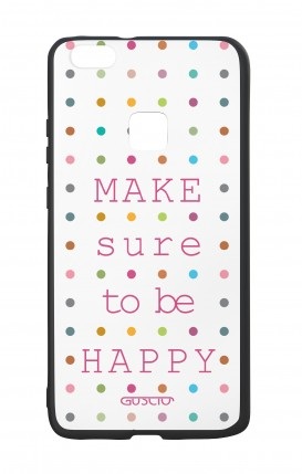 Cover Bicomponente Huawei P10Lite - Make sure to be happy
