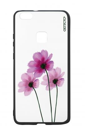 Huawei P10Lite White Two-Component Cover - Flowers on white