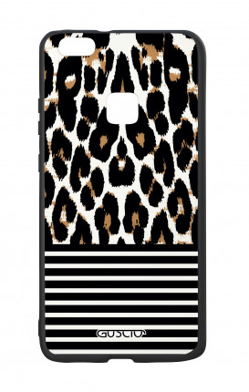 Huawei P10Lite White Two-Component Cover - Animalier & Stripes