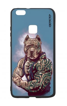 Huawei P10Lite White Two-Component Cover - Pitbull Tattoo