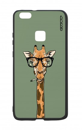 Cover Bicomponente Huawei P10Lite - Giraffa con occhiali