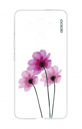 Cover HUAWEI Mate 10 PRO - Flowers on white