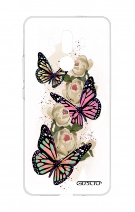 Cover HUAWEI Mate 10 PRO - Farfalle su bianco