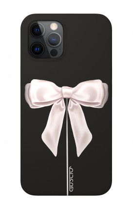 "Soft Touch Case Apple iPhone 12 6.1"" - Satin White Ribbon"