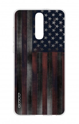 Cover HUAWEI Mate 10 Lite - Bandiera americana scura