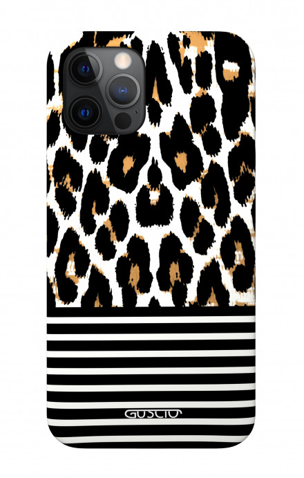 """Soft Touch Case Apple iPhone 12 6.1"""" - Animalier & Stripes"""