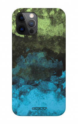 """Soft Touch Case Apple iPhone 12 6.1"""" - Mineral Black Lime"""