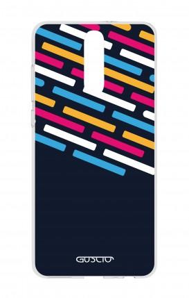 Cover HUAWEI Mate 10 Lite - Righe su fondo Blu