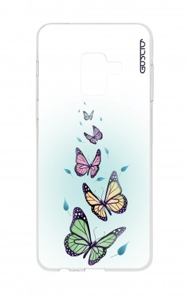 Cover Samsung A8 A5 2018 - Butterflies & Leaves