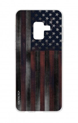 Cover Samsung A8 A5 2018 - Dark USA Flag