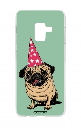Cover Samsung A8 A5 2018 - Party with Pug