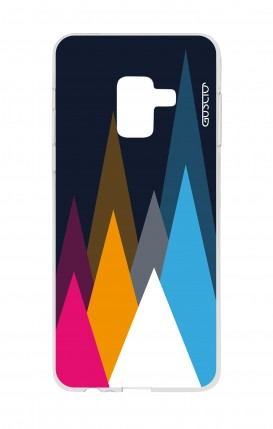 Cover Samsung A8 A5 2018 - Tops on Dark Blue