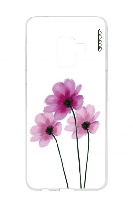 Cover Samsung A8 A5 2018 - Flowers on white