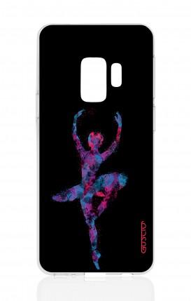 Cover Samsung Galaxy S9 - Ballerina fondo nero