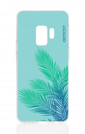 Cover Samsung Galaxy S9 - Foglie azzurre