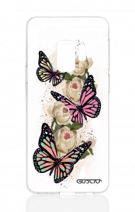 Cover Samsung Galaxy S9 - Farfalle su bianco