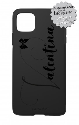 Case Skin Feeling Apple iphone11 PRO MAX BLK - Nome Fiocco max 13 caratteri