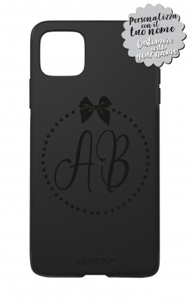 Cover Skin Feeling Apple iphone11 PRO MAX BLACK - InizialiFiocco max 3 caratteri