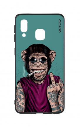 Cover Bicomponente Samsung A40 - Scimmia felice