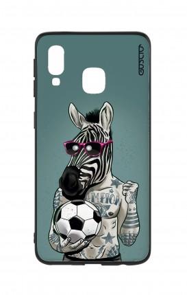 Cover Bicomponente Samsung A40 - Zebra
