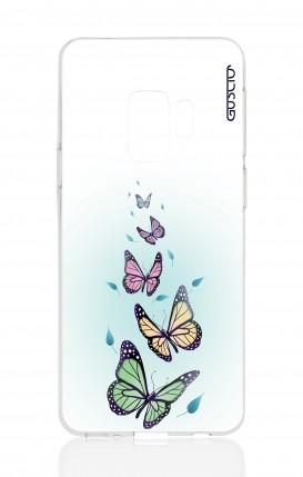 Cover Samsung Galaxy S9 Plus - Farfalle & foglie