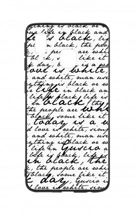 Cover Bicomponente Samsung A40 WHT - Scritte in bianco e nero