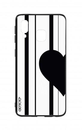 Cover Bicomponente Samsung A40 WHT - Cuore a metà
