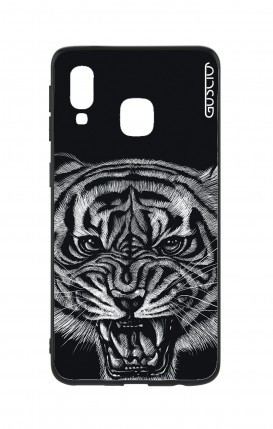 Samsung A40 WHT Two-Component Cover - Black Tiger