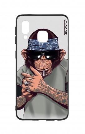 Samsung A40 WHT Two-Component Cover - Chimp with bandana