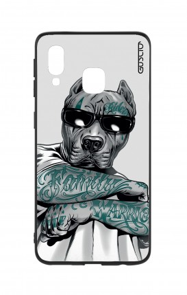 Samsung A40 WHT Two-Component Cover - Tattooed Pitbull