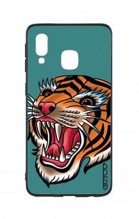 Cover Bicomponente Samsung A40 - Tigre Tattoo su ottanio