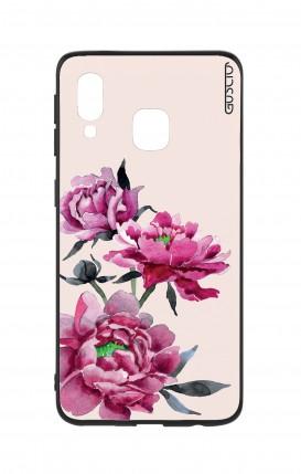 Cover Bicomponente Samsung A40 - Peonie rosa