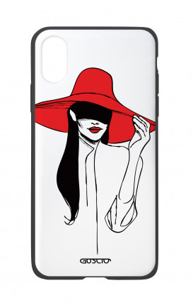 Apple iPhone X White Two-Component Cover - Red Hat