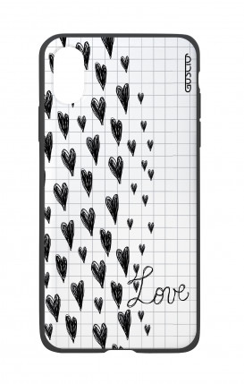 Apple iPhone X White Two-Component Cover - Love on notebook