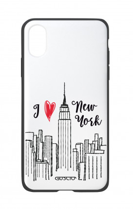 Apple iPhone X White Two-Component Cover - I love NY