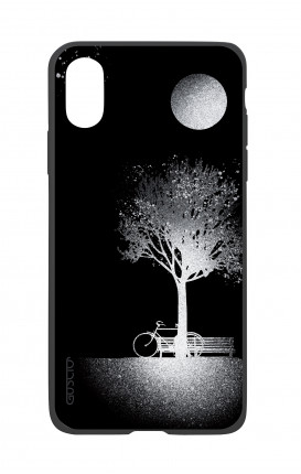 Apple iPhone X White Two-Component Cover - Moon and Tree