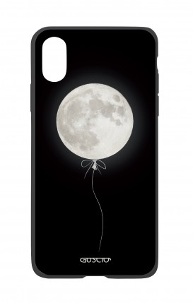 Apple iPhone X White Two-Component Cover - Moon Balloon
