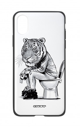 Apple iPhone X White Two-Component Cover - Tiger on WC